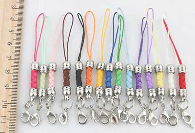 10 x MOBILE PHONE STRAP WITH LOBSTER CLASP BAG CHARM JEWELLERY MAKING