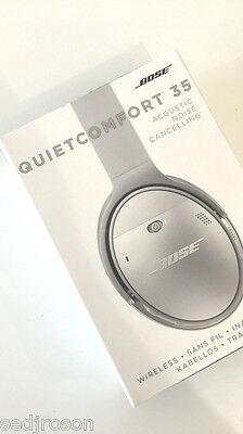 BNIB Bose QC35 QuietComfort 35 Noise Cancelling Wireless Headphones - Silver