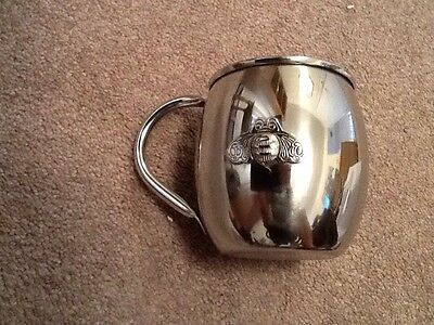Patron 16 oz. Stainless Steel Drink Mug With Bee Insignia, Forget Glass