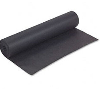 75 Foot Roll x 24 Inches Wide - 50# BLACK KRAFT PAPER - FREE SHIPPING