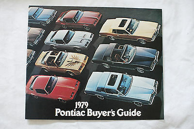 PONTIAC BUYERS GUIDE 1979 Canadian brochure sales catalog