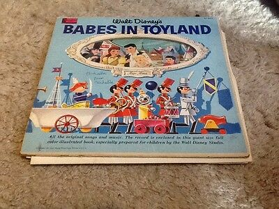 walt disney babes in toyland story book vinyl album 1961  Collectable
