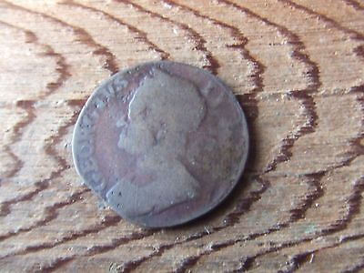 George Ii    Halfpenny.   Evasion Issue.  Rare.    Nice Condition.