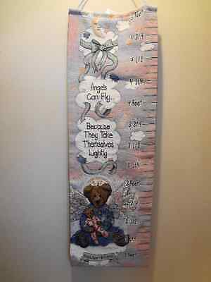 Boyds Bears Angelica Growth Chart Tapestry Wall Hanging Nursery Children's Room