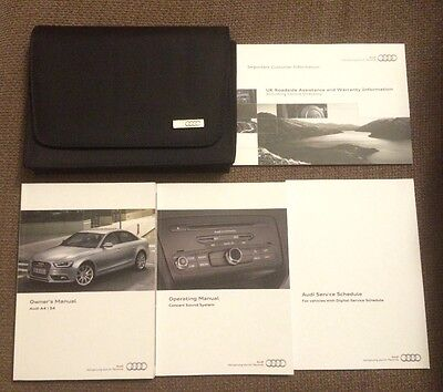 Audi A4 S4 owners manual operating manual and wallet