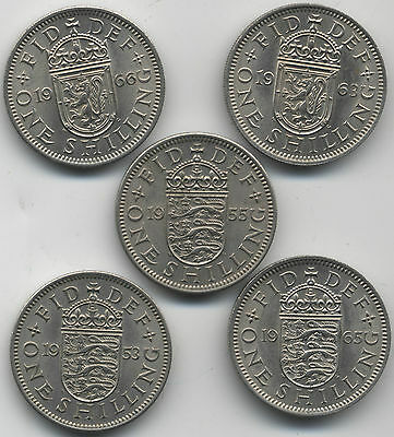 Selection Of High Grade Elizabeth II One Shilling Coins***Collectors***