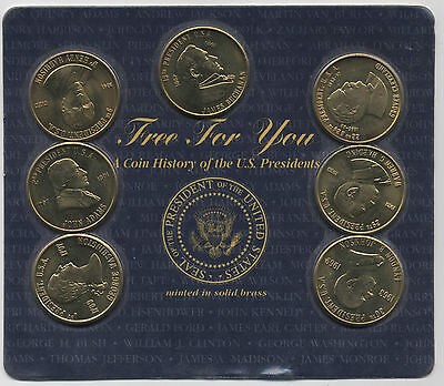 Coin History of USA Presidents Minted in Solid Brass***Collectors***CRD#1***