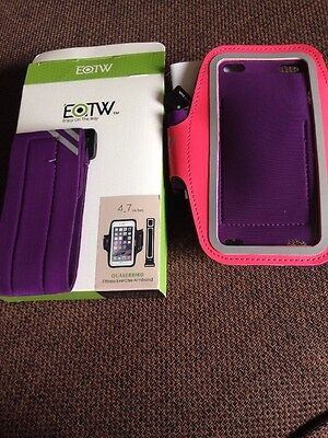 EOTW 4.7inch iPhone 6/6s Running Case Armband Fitness Pink Purple Exercise Gym