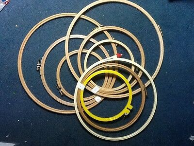 Embroidery / cross stitch hoops - used - set of three