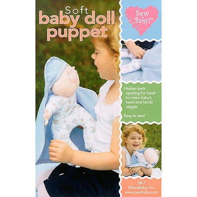 BABY WIGGLES SOFT DOLL PUPPET SEWING PATTERN, from SewBaby, Inc., *NEW*