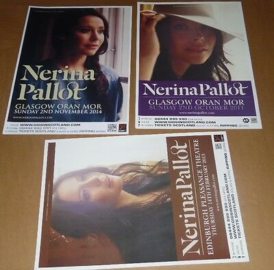 Nerina Pallot posters - collection of 3 tour concert / gig poster