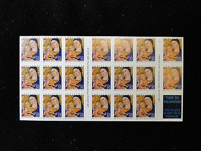 #3176 Madonna With Child  booklet of 20  Mint NH  free shipping