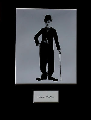 CHARLIE CHAPLIN signed autograph PHOTO DISPLAY