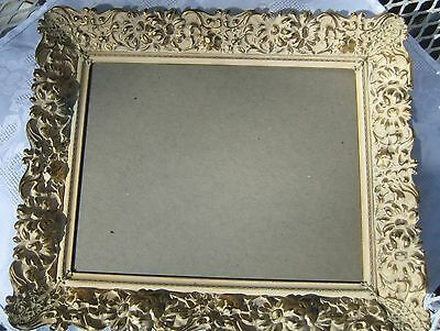Vintage Metal Picture Frame Cream Color In Gold Metal Ornate