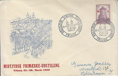 Denmark 1950 cover Red Cross Croix Rouge Rotes Kreuz