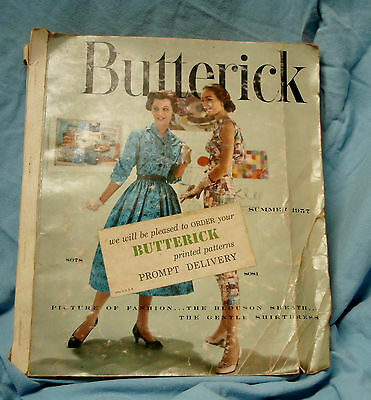 Vintage BUTTERICK Summer 1957 Large Counter Pattern Catalog Book Store Sewing