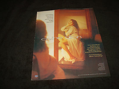 CELINE DION 1991 ad in mirror, hit 'If You Asked Me To' 'Beauty & the Beast'
