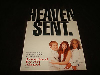 TOUCHED BY AN ANGEL Emmy ad Roma Downey, Della Reese, John Dye 'Heaven Sent.'