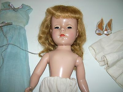 "Sweet Sue doll 15"" Vintage 1950's  Strung Mohair wig Blonde American Character"