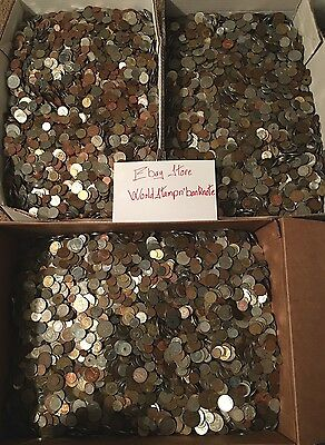 5 Lbs Of Unsearched World Coins - Mixed Foreign Coins. (#C163)
