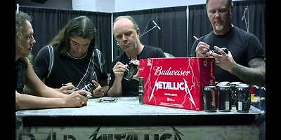 Metallica Budweiser empty beer can collectible limited edition RARE  Quebec