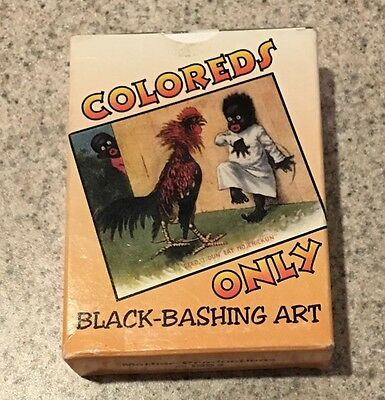 COLOREDS ONLY 1900-1930s Postcard BLACK BASHING ART Trading Card Set 1994 in Box