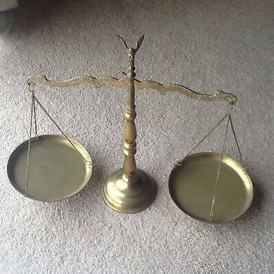 Vintage Brass Scales Of Justice - Collectable