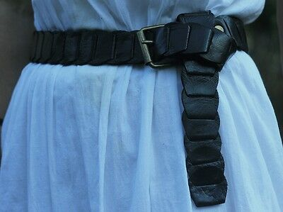 Hand crafted. Morrocan leather belt with T-bar buckle.