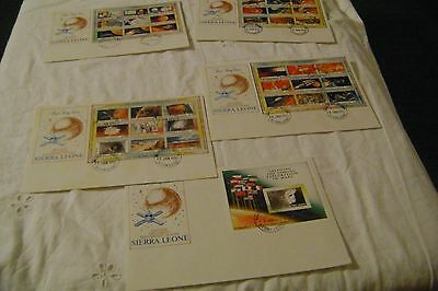 SIERRA LEONE -SCOTT#1167-1171-EXPLORATION of MARS-LOT of 5-FIRST DAY COVERS MINT