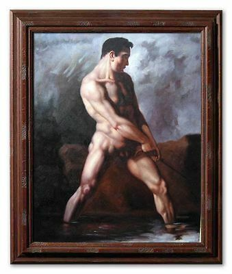 Theodore Gericault Study of a Male Nude Handmade Oil Painting repro