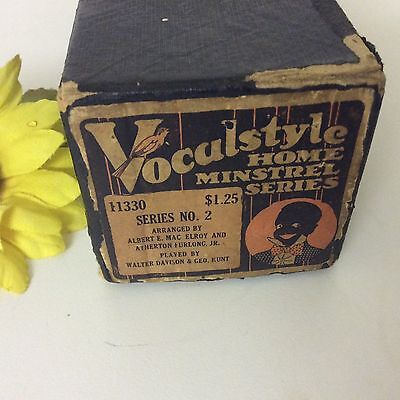 Vocalstyle Player Piano Roll Home Minstrel Music Series 2 11330 Black Americana