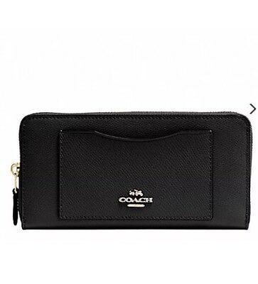 Brand New 100% Authentic Coach Black Leather Wallet Rrp $470