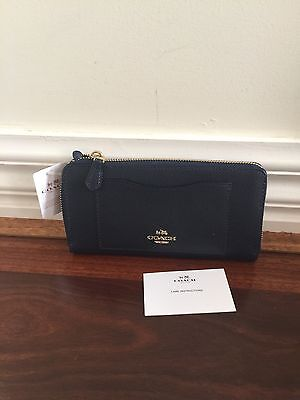 Brand New 100% Authentic Coach Navy Colour Leather Wallet Rrp $470