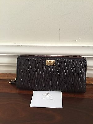 Brand New Amazing Authentic COACH Leather Wallet Zip Wallet Rrp $525