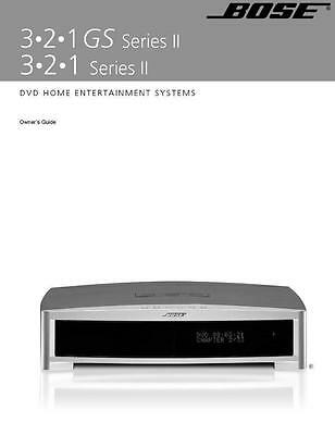 Bose 321 II GS Series II Entertainment System Owners Manual User Guide