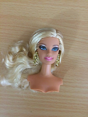 Fashionistas Glam Barbie Doll Head Swappin' Style Blonde Highlighted Hair