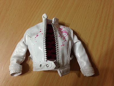 Barbie Collector Model Muse Hello Kitty Sanrio Doll White Faux Leather Jacket