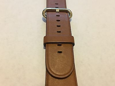Genuine Apple  Watch Band -  42mm Saddle Brown Classic Buckle - MMHE2AM/A