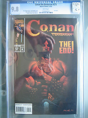 Conan the Barbarian #275 CGC 9.8 WP **Final Issue** Marvel Comics 1993