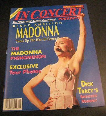 In Concert Magazine: MADONNA BLOND AMBITION, Tour Tie-In Mag 1990 MINT! Great!!