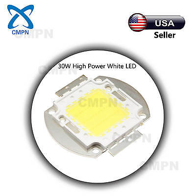 1Pcs 30W High Power LED Chip SMD Cool White 10000-15000k Light Lamp Diodes Beads