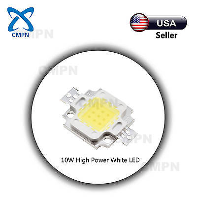 1Pcs 10W High Power LED SMD Chip Beads Buld Light Lamp Diodes White 6000-6500k