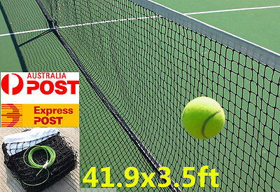 Tennis Net Court Standard 41.9x3.5ft Full Size Fixing Cable included OZ Stock