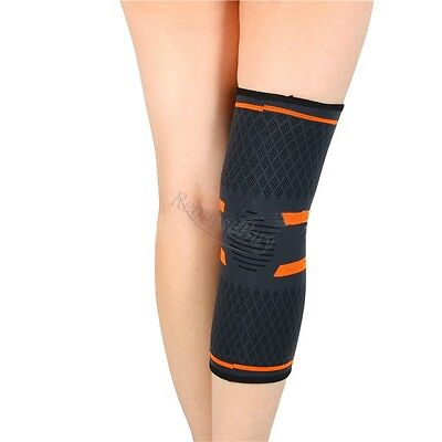 Elastic Knee Brace Strap Guard Support Sleeve Leg Muscles Protection GYM Sport
