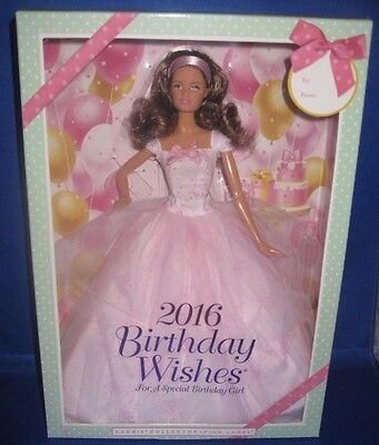 Barbie Collector 2016 Birthday Wishes  Hispanic Barbie Doll, Nrfb