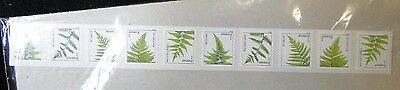 #4874 - 4878 Ferns Forever Coil strip of 25  MNH free shipping