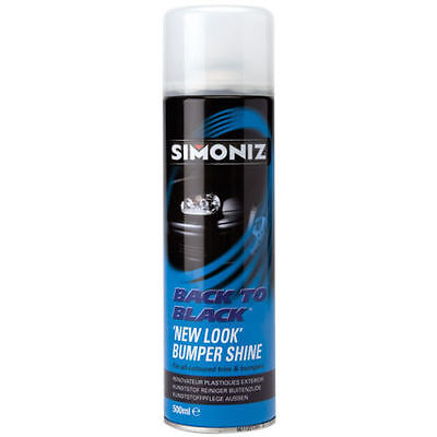 Simoniz Back To Black New Look Bumper And Trim Shine For All Colours