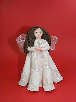 "Kneeded Angels  Freundschafts - Engel  ""Snow Bunny""  #6057 by Carol A. Graziano"