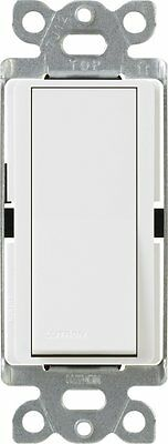 Lutron CA-3PS-WH Diva 15-Amp 3-Way Switch, White