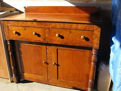 Antique American sideboard; late Federal C. 1820, cherry